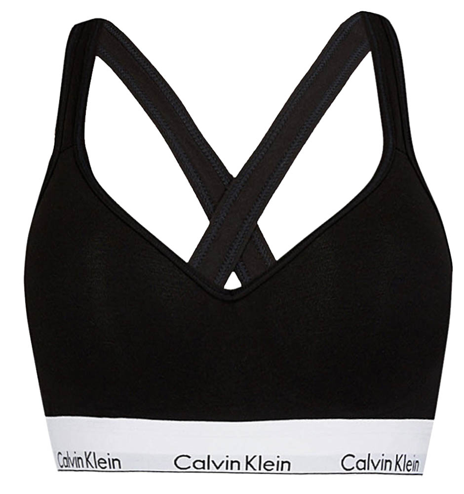 CALVIN KLEIN - Modern Cotton bralette lift čierna