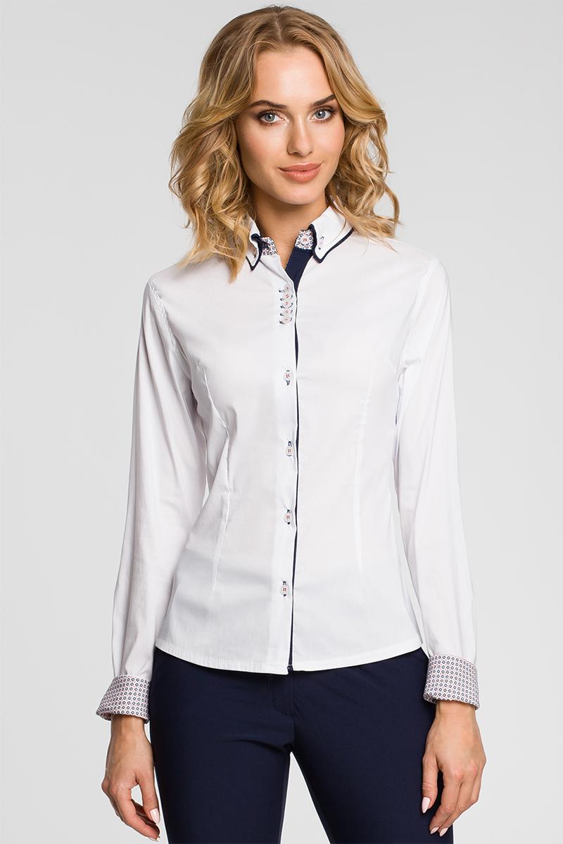 Biela košeľa MOE 067