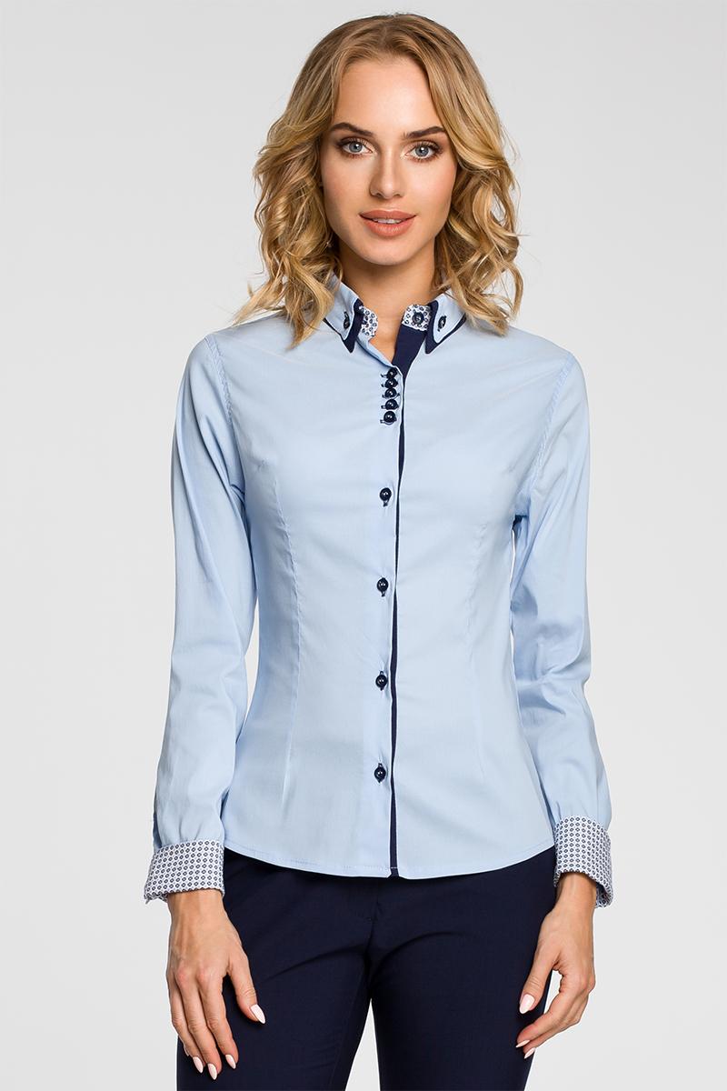 Modrá košeľa MOE 067