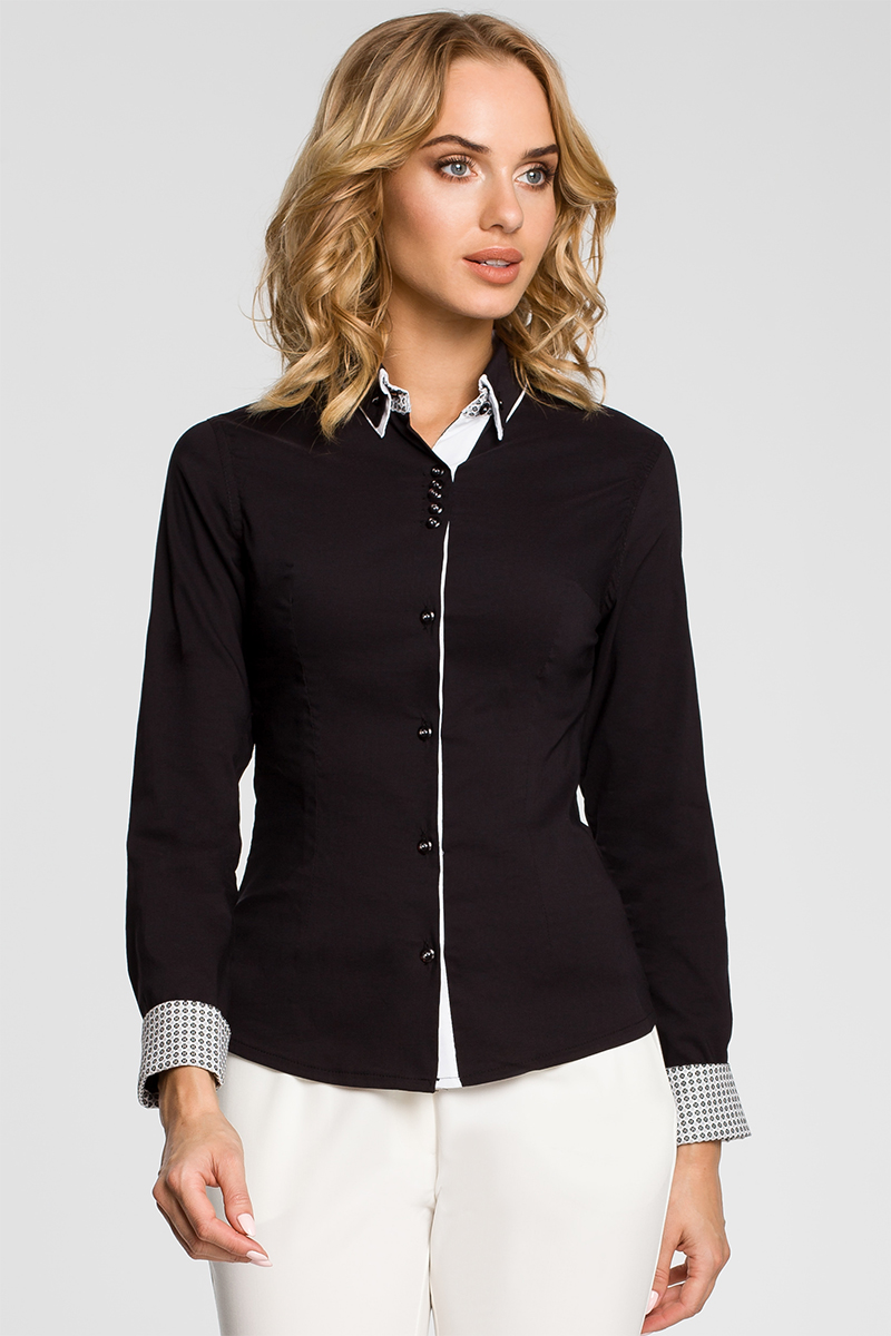 Čierna košeľa MOE 067