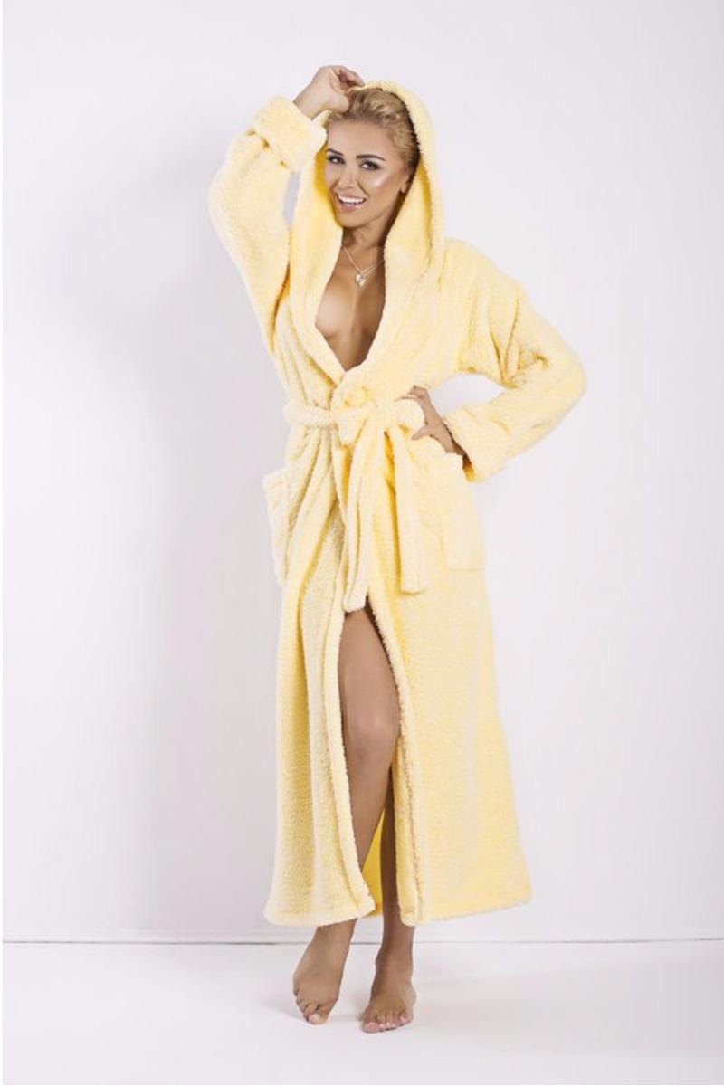 Žltý dlhý župan Diana