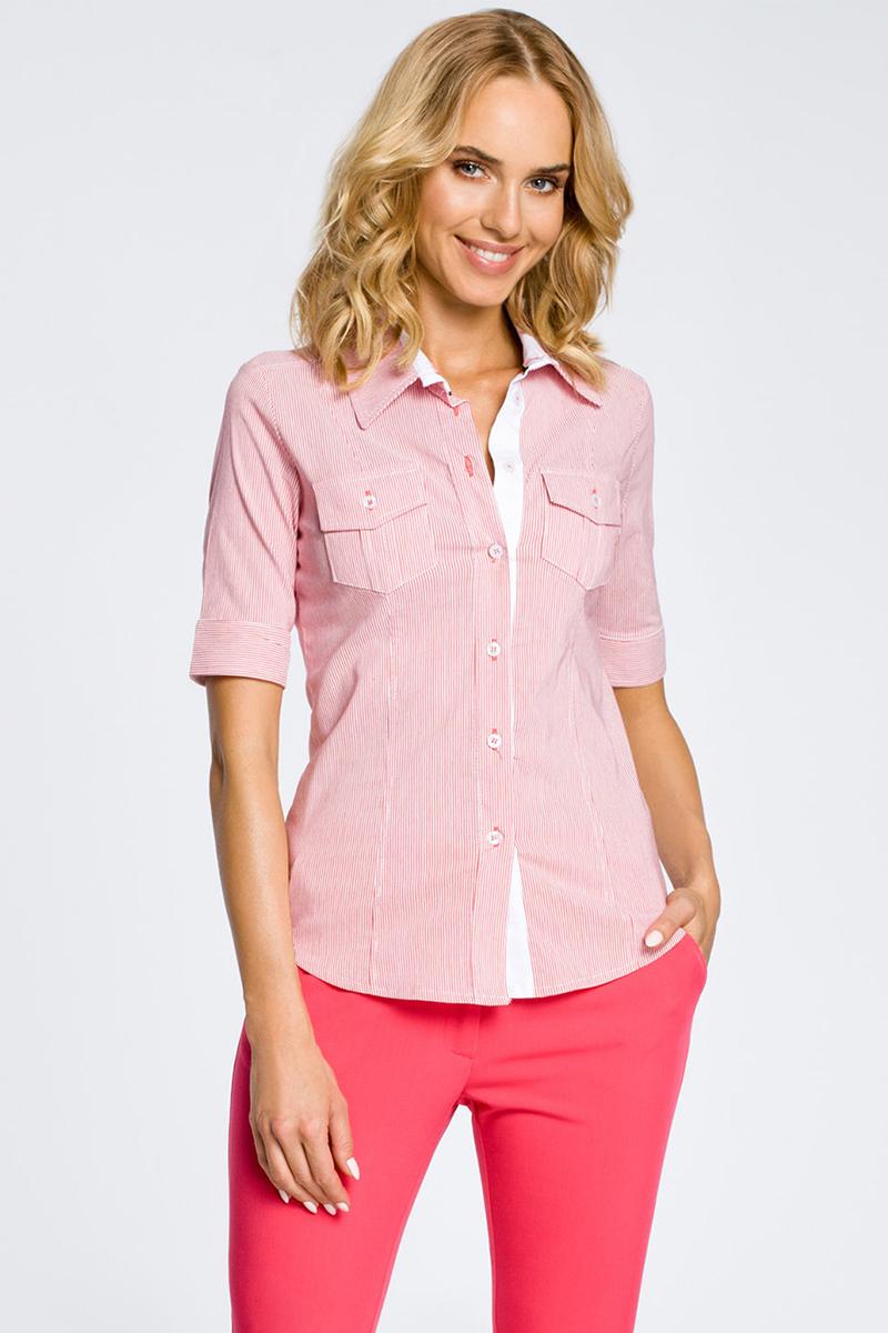 Ružová košeľa MOE 027