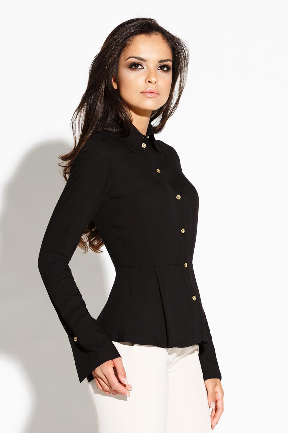 Čierna košeľa Lora