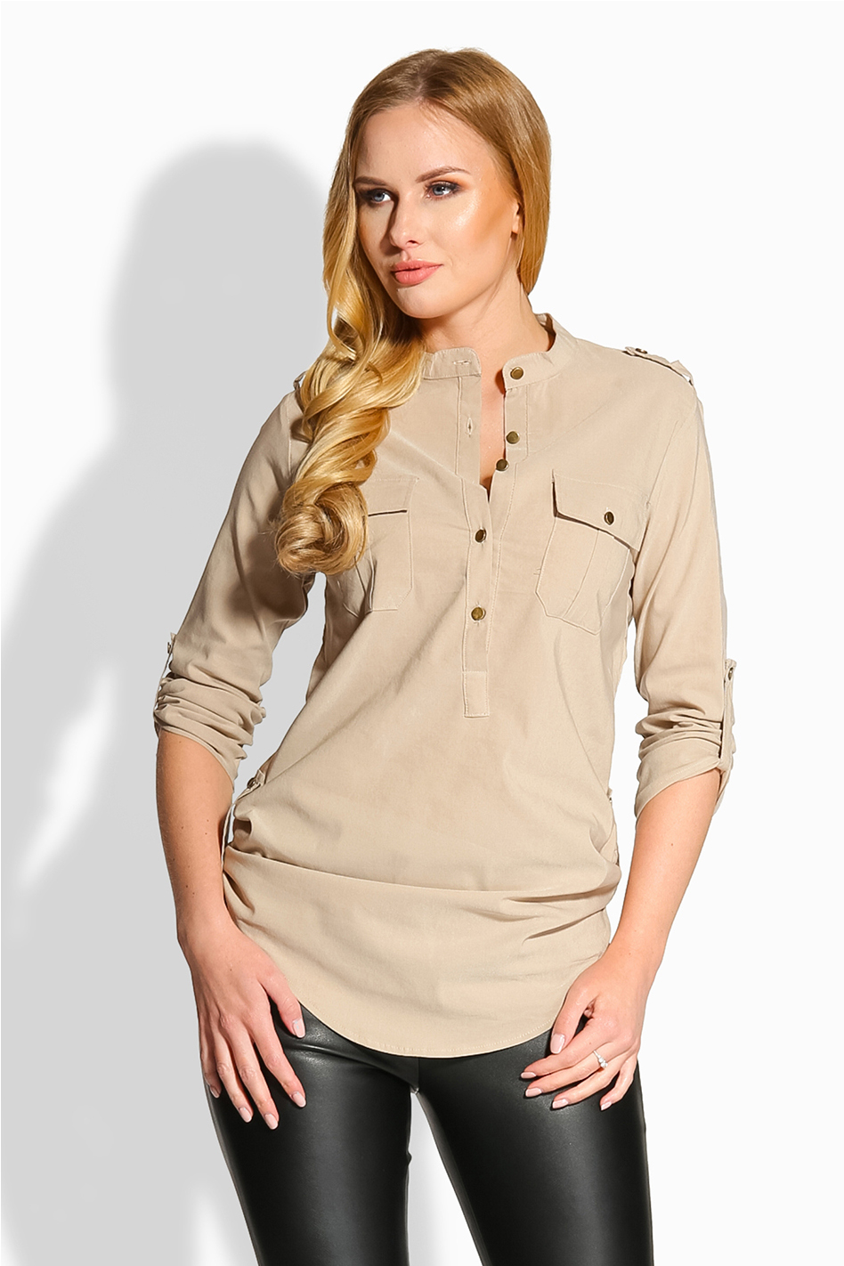 Béžová košeľa EM503