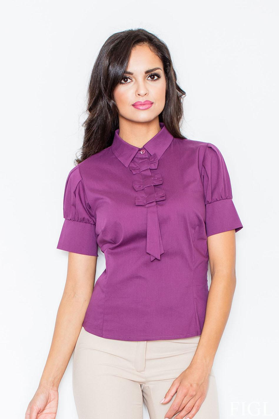 Košeľa M008 fialová