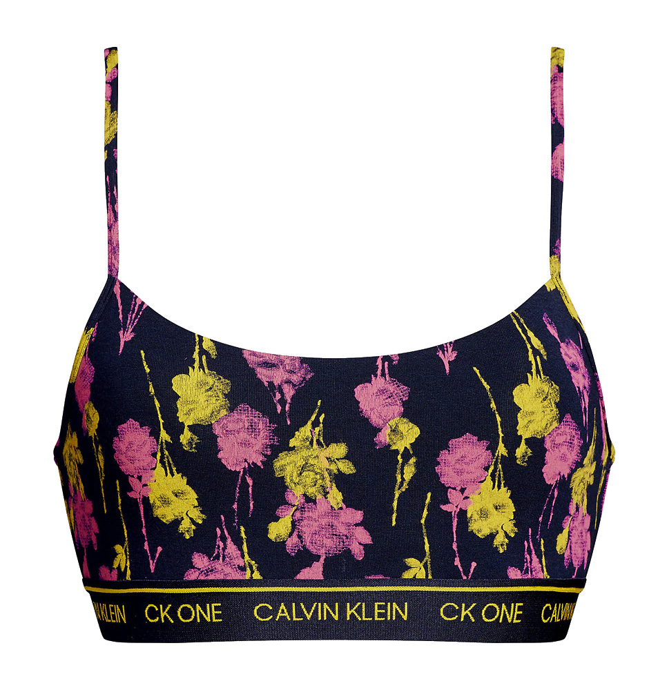 CALVIN KLEIN - CK ONE color unlined bralette s nastaviteľnými ramienkami